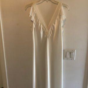 NWOT Oscar De La Renta Pink Label White Nightgown